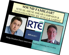 2018 Liveline RTE interview with Stephen Manning - removed from RTE website..